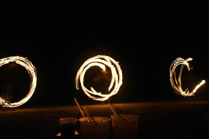Fire Show in Koh Tao, Thailand