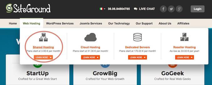 migrare sito web da un hosting a un altro