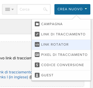 3. Creare un tracking link per split test