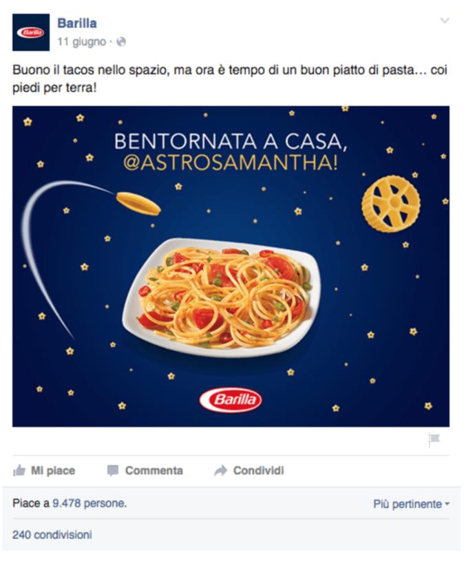 Social Media Marketing Facebook Barilla